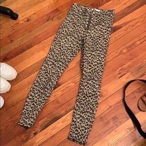Topshop high waisted leopard Joni jeans